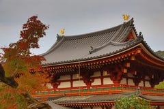 O Phoenix Salão Byodo-no templo em Kyoto, Japão fotografia de stock royalty free