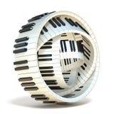 O piano abstrato fecha 3D Imagem de Stock