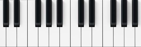 O piano branco e preto fecha o fundo ilustração 3D Foto de Stock