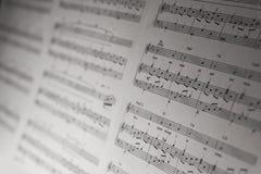 O piano clássico nota o detalhe do close-up, imagens de stock royalty free