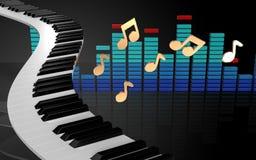 o piano 3d fecha chaves do piano Fotografia de Stock Royalty Free