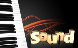 o piano 3d fecha a placa Imagens de Stock