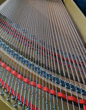 O piano de cauda amarra a opinião abstrata do retrato Imagem de Stock