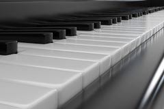 O piano fecha o close up Foto de Stock