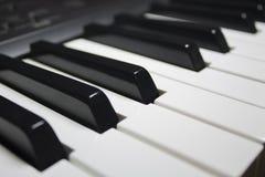 O piano fecha o branco preto Foto de Stock