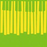 O piano musical abstrato fecha - fundo sem emenda - o textu do citrino Fotografia de Stock