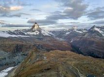 o pico de Matterhorn Imagem de Stock