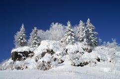 O pico snow-covered imagem de stock royalty free