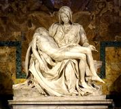 O Pieta por Michelangelo imagem de stock