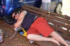 O piloto relaxa Fotos de Stock