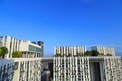 O pináculo Duxton, é um grupo de construções altas para viver Fotografia de Stock