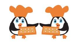O pinguim do cozinheiro chefe ilustração royalty free