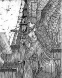 O pintor ilustração do vetor