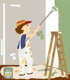 O pintor Imagens de Stock
