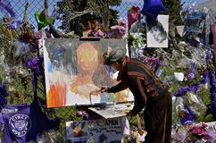 O pintor comemora o PRÍNCIPE foto de stock royalty free