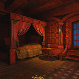 O pirata Captains a cabine Imagens de Stock Royalty Free