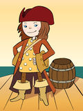 O pirata da menina Imagem de Stock Royalty Free
