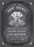 O pirata da morte do quadro convida 2 ilustração royalty free