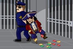 O pirata rebentou ilustração royalty free