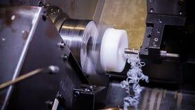 O plástico de trituração do CNC montou video estoque
