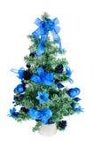 O plástico decorou a árvore de Natal com um anjo Fotos de Stock Royalty Free