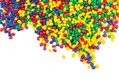 O plástico matizado granula imagem de stock royalty free
