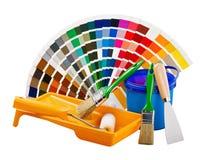 O plástico pode com pintura Imagem de Stock Royalty Free