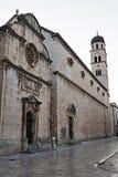 O Placa Stradum na cidade velha de Dubrovnik fotografia de stock