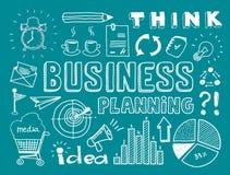 O planeamento empresarial rabisca elementos Imagens de Stock Royalty Free