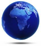 O planeta alterado refletiu 3d rende Imagens de Stock Royalty Free