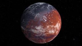 O planeta de gerencio estraga com uma superfície e os continentes da água ilustração do vetor