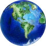 O planeta desenhado é terra ilustração stock