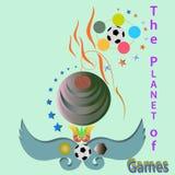 O planeta dos jogos Imagem de Stock Royalty Free