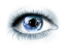 O planeta está no olho Foto de Stock