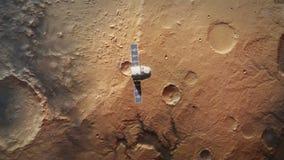 O planeta estraga da órbita com nave espacial ilustração do vetor