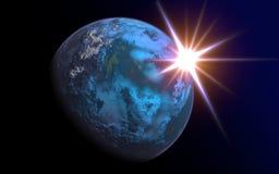 O planeta estrangeiro acima-fecha-se Fotos de Stock Royalty Free