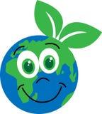 O planeta feliz cerca o ambiente Imagens de Stock
