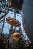 O planeta modela na terra e no espaço Salão do museu americano da história natural AMNH - New York, EUA Imagem de Stock Royalty Free