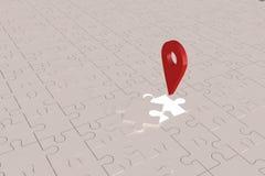 O plano aberto do Local da parte do enigma Imagem de Stock Royalty Free