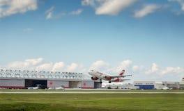 O plano de Air Canada decola Fotografia de Stock Royalty Free