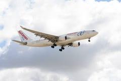 O plano de Air Europa Fotografia de Stock Royalty Free