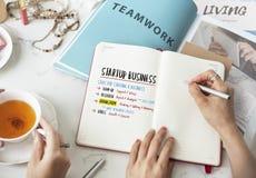 O plano de negócios Startup pisa conceito gráfico Imagens de Stock Royalty Free