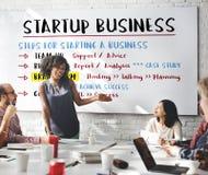 O plano de negócios Startup pisa conceito gráfico fotografia de stock