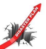 O plano do desastre Imagens de Stock