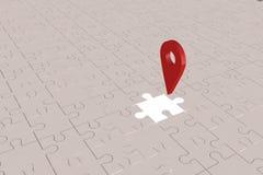 O plano faltante local da parte do enigma Fotos de Stock Royalty Free