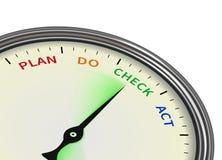 O plano faz o relógio do ato de verificação Imagens de Stock Royalty Free