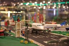 O plano no aeroporto Foto de Stock
