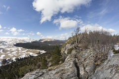 O platô do Lago-Naki Cáucaso fotografia de stock royalty free