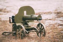O PM M1910 era uma metralhadora pesada usada pelo exército imperial do russo Fotos de Stock