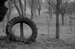 O pneu de borracha imagens de stock royalty free